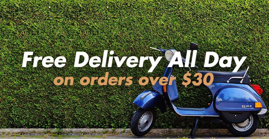 Free delivery on orders over $20